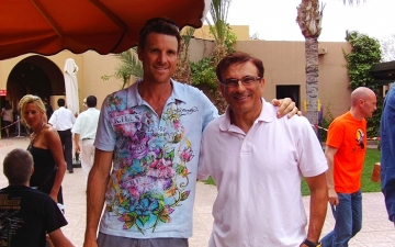 With James Cracknell (Olympic Gold Medalist 2000, 2004) Upon completion of MDS Sahara Maroco, 2008